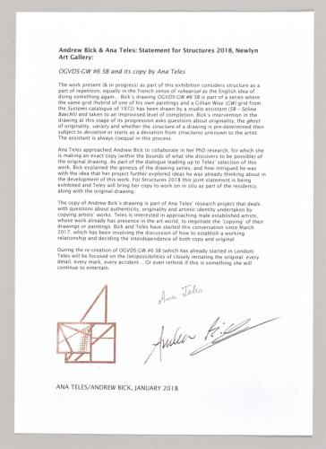 Andrew Bick's and Ana Teles' statement