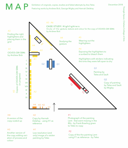 Map of the exhibition